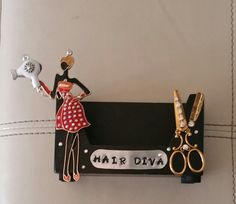 Hair Diva/HairStylist  Business Card by TheBohemianGypsy on Etsy