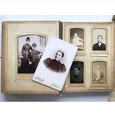 Antique Victorian celluloid photo album filled with cabinet cards, CDVs and studio portraits by SpakeAsAChildVintage on Etsy https://www.etsy.com/listing/586061713/antique-victorian-celluloid-photo-album