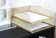 DIY Gold Letter Tray // Beauty and the Chic