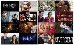 4. The Host, Los Juegos del hambre, Cazadores de sombras, Crepusculo,  Hermosas Criaturas, Percy Jackson  Harry Potter, Divergente