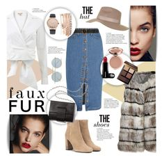 """""""Faux Fur Coats: Contest Entry"""" by dorottyaszucs ❤ liked on Polyvore featuring Calypso St. Barth, Nico, Madewell, Michael Kors, Topshop, Le Specs, STELLA McCARTNEY, Yves Saint Laurent, MM6 Maison Margiela and Jessica Carlyle"""
