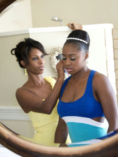 Trinity McCray & her mother Grace before her wedding