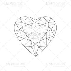 Heart Diamond Illustration