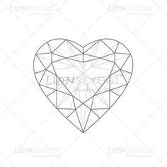 Heart Diamond Illustration