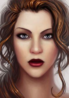 Levana  http://thesilvereye.tumblr.com/post/70415288159/portrait-of-queen-levana-x#notes