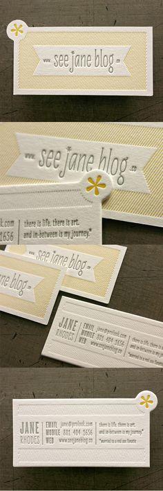 Letterpress Business Card | Business Cards | The Design Inspiration