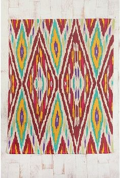 Ikat rug...love this, and need this to cozify the terrazzo floors!