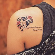 The web's most awesome dog memorial tattoo designs. Great Tattoos, Trendy Tattoos, Beautiful Tattoos, Small Tattoos, Tattoos For Women, Tatoo Dog, Dog Tattoos, Animal Tattoos, Body Art Tattoos