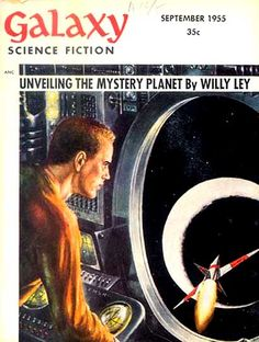 ED EMSHWILLER - art for Unveiling the Mystery Planet by Willy Ley - Sept 1955 Galaxy Science fiction