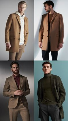 Men's Tonal Earth Tone outfit inspiration lookbook for autumn/winter 2016
