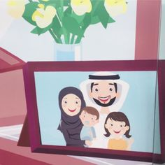 This happy Emirati family supports road safety.