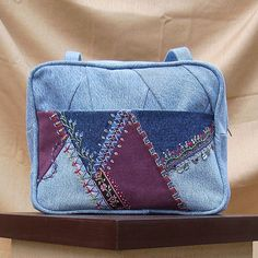 Crazy Mosaic Quilted Purse made by Susan Oakley