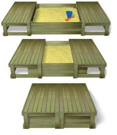 sliding lid sandpit... Stops the sandpit from becoming a giant kitty litter tray!