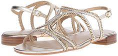 Amazon.com | Stuart Weitzman Women's Samoa Flat Sandal | Flats