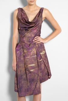 Boeing Printed Better Knot Dress by Vivienne Westwood Anglom