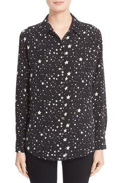 Kate Moss for Equipment 'Slim Signature' Star Print Silk Shirt | Nordstrom