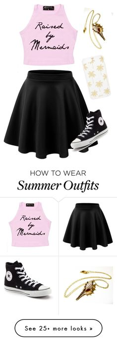 """Summer outfit #2"" by forestunicorn on Polyvore featuring Converse and Sonix"