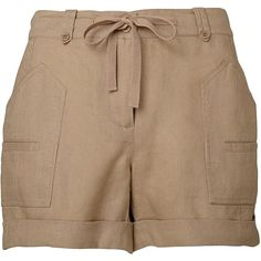 Witchery Utility Linen Short ($63) ❤ liked on Polyvore