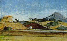 Paul Cézanne The Railway Cutting - 1870