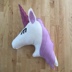 Unicorn Pillow by LunaBeehive on Etsy