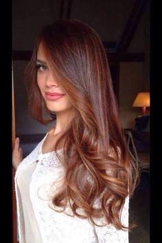 The 19 hottest red balayage hair color ideas right now 34 - Cabello Rubio Red Balayage Hair, Brown Blonde Hair, Brunette Hair, Hair Highlights, Auburn Highlights, Brunette Color, Color Highlights, Hair Color Auburn, Brown Hair Colors