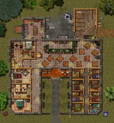 d&d dungeons and dragons d&d map d&d tavern rpg maps . Fantasy City, Fantasy Map, Fantasy Places, Medieval Fantasy, Tabletop Rpg, Tabletop Games, Building Map, Building Concept, Building Games