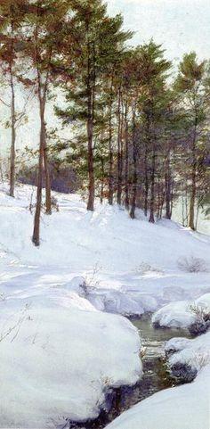 Le Coteau (2), aquarelle de Walter Launt Palmer (1854-1932, United States)