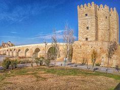 Roman bridge of Córdoba.  #travel #carameltrail #spain #visitspain #bridge #cordoba #andalusia #architecture #gopro