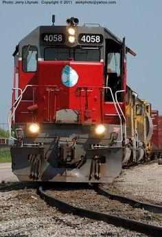 Ready to depart: Alabama Gulf Coast Railway [AGR] Engine No. 4058