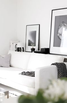 This white living room might not be practical but it's wonderfully glamorous!
