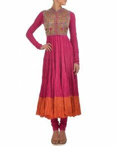 Pink Anarkali Suit with Bolero Jacket