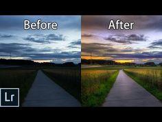 How to Create STUNNING Sunset Photos - Adobe Lightroom 6 cc Landscape… @English4Matura