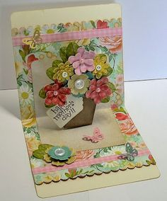 My First Pop Up Card by ! - Cards and Paper Crafts at Splitcoaststampers Pop Out Cards, 3d Cards, Paper Cards, Cool Cards, Step Cards, Interactive Cards, Fancy Fold Cards, Cricut Cards, Kirigami