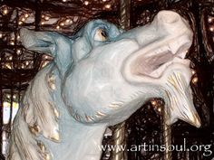 Haunted Carousel Sea Dragon Photograph Art print by ArtInSoulorg