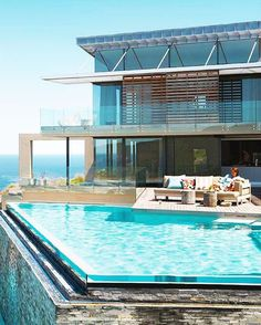 """Cliffside mansion in South Africa with ocean views and an infinity pool"