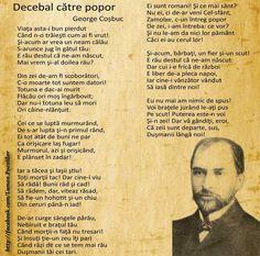 decebal catre popor 1 Decembrie, Motto, Let It Be, Random, Amazing, Quotes, Quotations, Mottos, Quote
