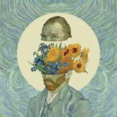 collage Van Gogh