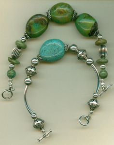 Turquoise bracelets made today