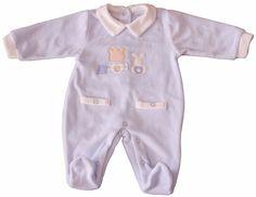 TUTINA CINIGLIA NEONATO BABY CON COLLETTO  E FINTE TASCHINE TAGLIE 0/12 MESI 210