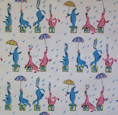 Vintage Dennison FOR BABY Gift Wrap  by MidCenturyAddiction, $4.95