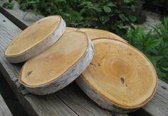 10 Birch Bark Tree Slices Rustic Natural  Wood by BirchHouseMarket, $24.40