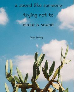 "It takes a good listener . ""Beautiful things don't ask for attention. James Thurber, John Irving, Good Listener, Liking Someone, Sounds Like, Cactus Plants, Take That, Beautiful Things, Instagram"