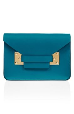 Free shipping and returns on Sophie Hulme 'Mini' Envelope Leather Bag at Nordstrom.com. Perfectly structured and polished with signature goldtone plates, this modern envelope bag provides a bold accent to everyday looks. Wear it over the shoulder for laid-back ease, or remove the strap and carry as a notice-me-now clutch.