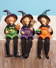 Take a look at this Happy Witch Shelf Sitter Set by Transpac Imports on #zulily today!