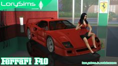 Sims 4 CC's - The Best: Ferrari by LorySims
