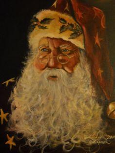 Old time Santa painted by Linda Chapman