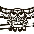 Eagle grasping a bat logo