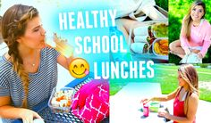 Healthy & Easy School Lunch Ideas!! Your middle school and high school students may really like these ideas.
