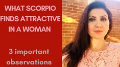 What Scorpio Finds Attractive in a Woman Numerology, Scorpio, Tarot, Astrology, Told You So, Woman, Youtube, Scorpion, Women