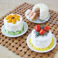Decorate sandwiches to look like cakes for a bridal shower, tea or luncheon.